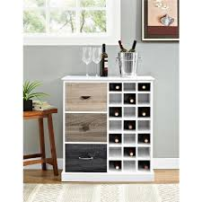 Wine Kitchen Cabinet Newage Products White Woodgrain Bar Cabinet 60005 The Home Depot