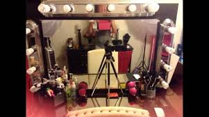 Glass Makeup Vanity Table Furniture Enchanting Diy Glass Top Makeup Vanity Table With Led