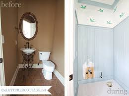 half bathroom paint ideas half painted wall cottage bathroom benjamin downpipe milk ideas