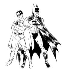 17 batman and robin coloring pages superhero printable coloring