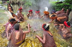 papua tribes celebrate thanksgiving with a war daily mail