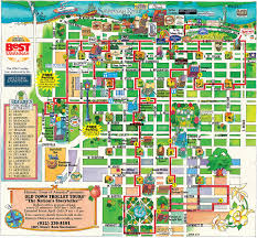 Walking Map Of New York City by Old Town Trolley Tours Of Savannah Route Map This Is A Great