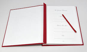 memorial guest books memorial service guest book