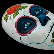 Day Of The Dead Mask Ceramic Figures Day Of The Dead Mask Fam22