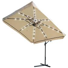 Sunbrella 11 Ft Cantilever Umbrella by Patio Ideas Offset Patio Umbrella Led Lights 11 Ft Led Offset