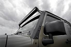 rough country light bar mounts country 50in mount and single row light bar combo 07 15 jk wrangler