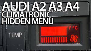 how to enter hidden service menu in audi a2 a3 8l a4 b5