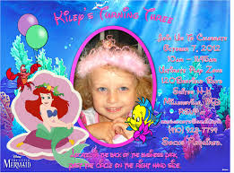 How To Make Invitation Cards For Birthday Little Mermaid Birthday Invitations Marialonghi Com