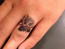flower tattoo ring 33 beautiful rose finger tattoos