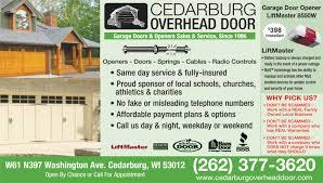 Cedarburg Overhead Door Overhead Doors Garage Doors Glass Doors Sliding Doors