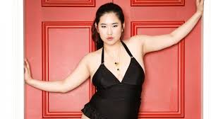 picture of heavy set women in a two piece bathing suit meet south korea s first plus size model