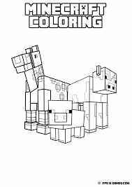 13 coloring sheet images minecraft party