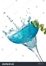 cocktail splash blue cocktail splash margarita glass stock photo 98726486