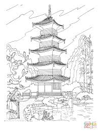 buddhist pagoda in japan coloring page gif 910 1200 homeschool
