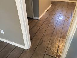 Paint Laminate Flooring All Around Surfaces Wood Look Concrete Overlay Flooring