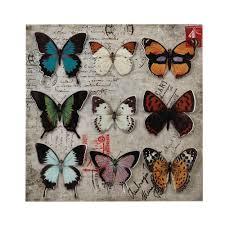 Butterfly 3d Wall Art by Butterfly Collage 3 D Wall Art Wholesale At Koehler Home Decor