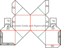extreme cards and papercrafting rubber band pop up cube