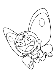 doraemon as butterfly coloring page boys pages of