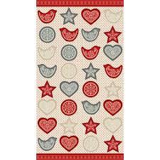 scandi garland fabric panel make your own christmas decor