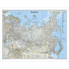 Former Soviet Union Map Russia Classic Wall Map Laminated National Geographic Store