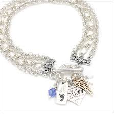 engraved charms mothers treasure charm bracelet with 3 charms and 2 engraved charms