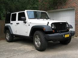 white jeep 4 door black grille on white rubicon part 2