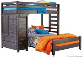 creekside twin full step loft bed with chest art van furniture