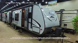 coachmen travel trailer floor plans coachmen apex ultra lite 28le youtube
