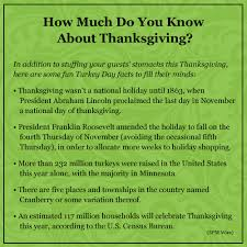 facts about thanksgiving happy turkey day