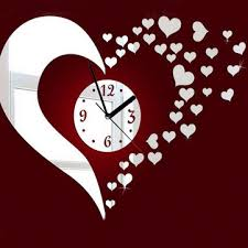 Wall Clock For Living Room by Diy 3d Heart Mirror Decoration Wall Clock Living Room Us 3 99