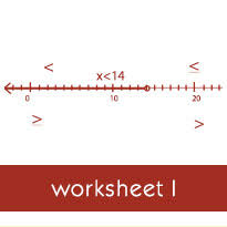 solving a word problem using a one step linear inequality worksheets