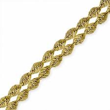 gold bracelet rope images 8mm hollow double rope chain bracelet in 10k gold 7 5 quot gold jpg