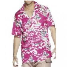 fancy dress hawaiian shirt bright pink m u0026 l