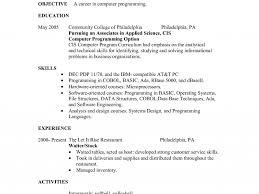 waiter resume sample resume example