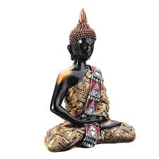 overvalue thai buddha meditating peace harmony sitting statue feng
