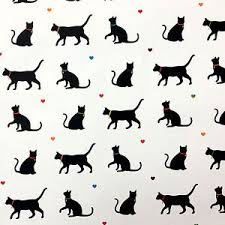 cat wrapping paper black cat wrapping paper four sheets saver gift wrap novelty