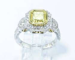 canary engagement ring tcw canary yellow princess cut ring with 18k white