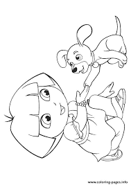 dora pup puppy coloring pages printable