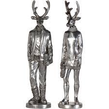 mr mrs deer ornament set cotterell co lighting store