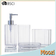 Clear Bathroom Accessories by Acrylic Bathroom Accessories Acrylic Bathroom Accessories