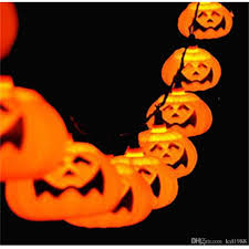 new halloween 5m 20 led pumpkin led string light ac110 220v orange