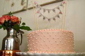 banner cake topper velvet bridal shower cake bunting banner
