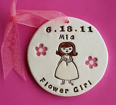 flower girl ornament personalized flower girl ornament for wedding party custom made