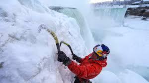 nissan canada niagara falls ice climbing niagara falls the awesomer