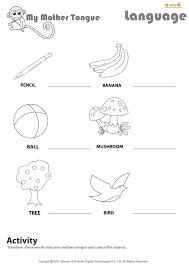 Sign Language Printable Worksheets My Mother Tongue English Worksheet For Kids Mocomi