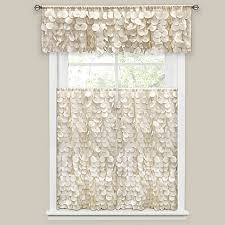 Bed Bath And Beyond Window Valances Gigi Bath Window Curtain Panel And Valance In Ivory Bed Bath