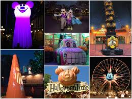 how disneyland decorates for halloween and the holidays