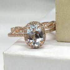 aquamarine wedding shop aquamarine wedding ring set on wanelo