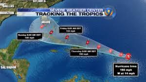 hurricane tracker category 5 irma bears down on caribbean wsoc tv