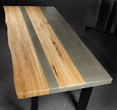 concrete and wood dining table concrete wood steel dining kitchen table 4 500 5 500 made by